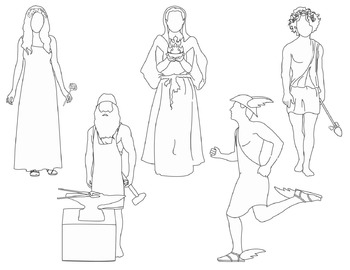 Greek Mythology Clip Art - set 3