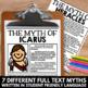 Greek Mythology Unit: Close Reading Bundle - Full Text Myths and Resources