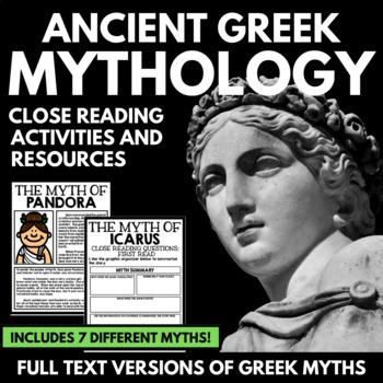 Mythology teaching resources teachers pay teachers greek mythology unit close reading bundle full text myths and resources fandeluxe Gallery