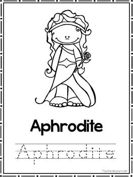 Greek Mythology Coloring Book worksheets.  Preschool-2nd Grade