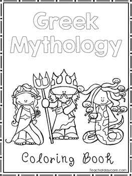 Greek Mythology Coloring Book worksheets. Preschool-2nd ...