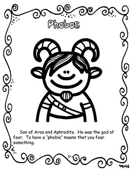 Greek Mythology Content Coloring Book