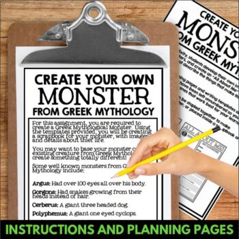 greek mythology create your own monster from the mythology of