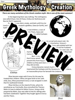 Greek Mythology - Creation Myth