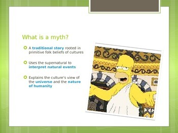 Greek Mythology Creation Story and Gods and Goddesses PowerPoint