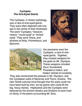 Greek Mythology: Cyclopes