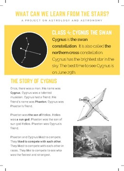 Greek Mythology - Cygnus the Swan ELA STEAM PBL (Grade 3-5)