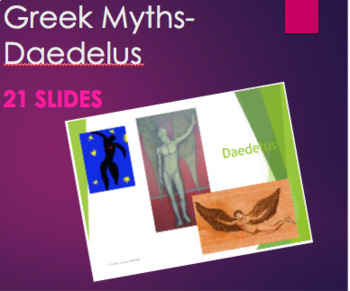 Greek Mythology - Daedelus PPT