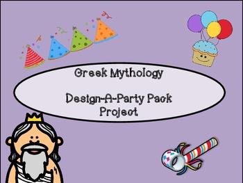 "Greek Mythology ""Design a Party Pack"" Project"