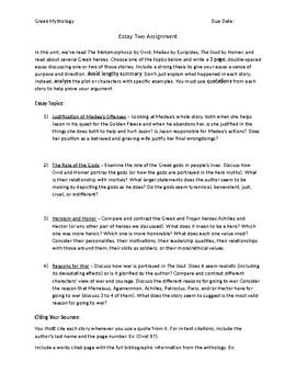 Essay Fahrenheit 451 Greek Mythology Essay  Essay About Veterans also Why Marijuana Should Not Be Legalized Essay Greek Mythology Essay  By Megan Altman  Teachers Pay Teachers Essay Layouts