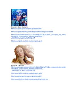 Greek Mythology Facebook Research
