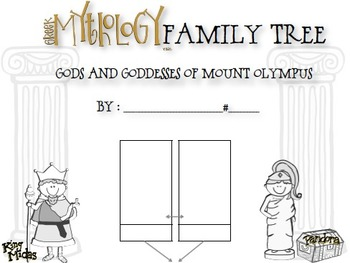 Greek Mythology Family Tree Project- Olympian Gods and Goddesses