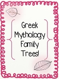 Greek Mythology Family Trees!