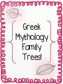 Greek Mythology Family Trees!