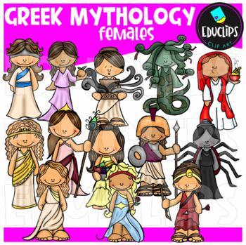 Greek Mythology Females Clip Art Bundle {Educlips Clipart}