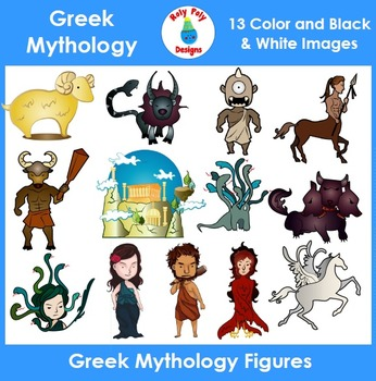 Greek Mythology Figures Clip Art