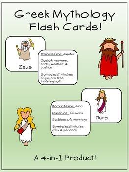 Greek Mythology- Flash Cards!
