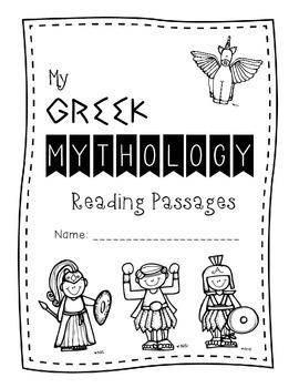 Greek Mythology God & Goddesses Close Reading Passages