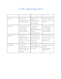 Greek Mythology God Research Rubric