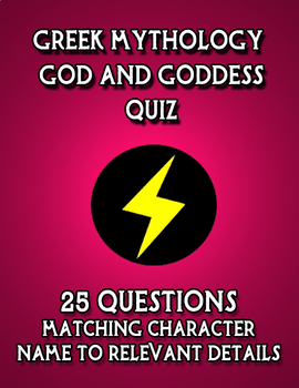 Greek Mythology God and Goddess Quiz