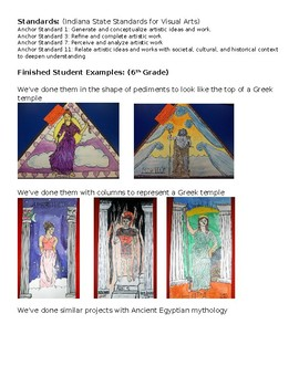 Greek Mythology: Gods & Goddess Proportion Lesson Plan