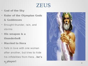 Greek Mythology Gods & Goddesses PPT