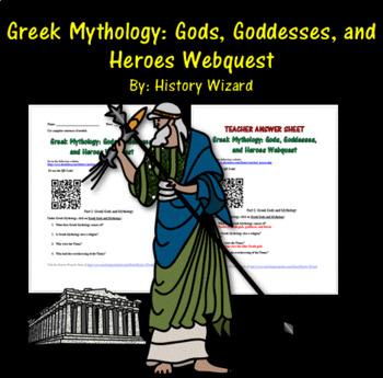 Greek Mythology: Gods, Goddesses, and Heroes Webquest