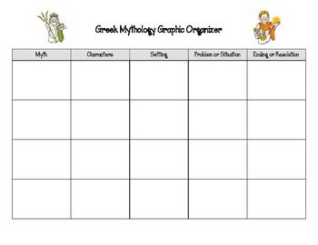Greek Mythology Graphic Organizer