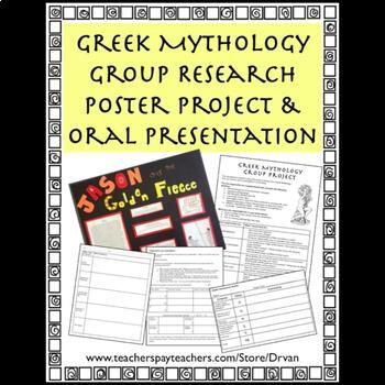 Greek Mythology Group Poster Project and Oral Presentation