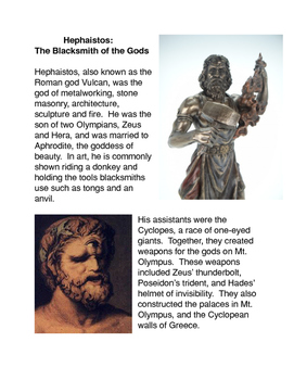 Greek Mythology: Hephaistos God of the Blacksmith