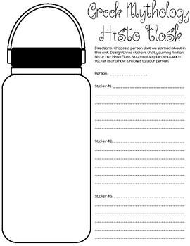 Greek Mythology Histo Flask Activity