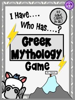 Greek Mythology - I Have, Who Has...? Game