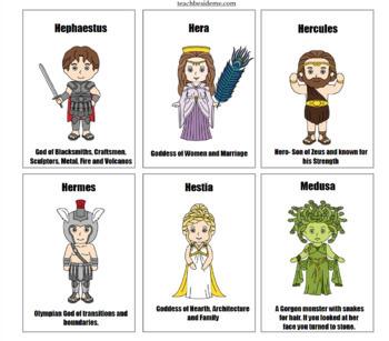 Greek Mythology Info & Trading Cards