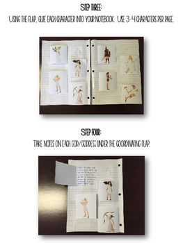 Greek Mythology Interactive Notebook: Gods and Goddesses