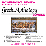 Greek Mythology Intro PPT, Review Games, & Tests Bundle