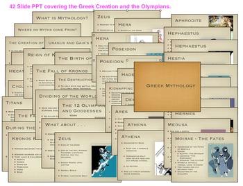 Greek Mythology Intro PPT, Review Games, & Tests Bundle