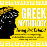 Greek Mythology Living Art Exhibit Activity - Great Paired with The Odyssey!