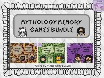Greek Mythology Memory Games BUNDLE