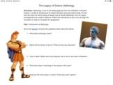 Greek Mythology Mini-Unit: Hercules (Then and Now)