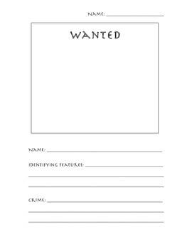 Greek Mythology: Monster Wanted Poster