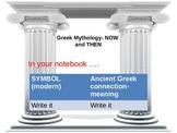 Greek Mythology- NOW and Then