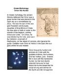 Greek Mythology: Orion