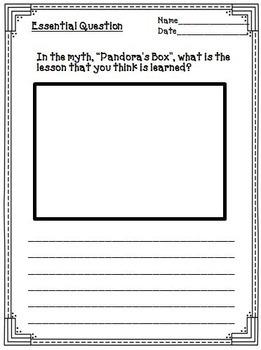 Pandora's Box Greek Mythology Passage for Close Reading & Literacy Activities