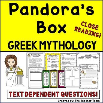 Greek Mythology Pandora's Box Close Reading