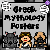 Greek Mythology Poster Set (Gods, Goddesses, Monsters)