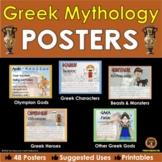 Greek Mythology Posters of Greek Gods, Mythological Characters, Beasts & Heroes