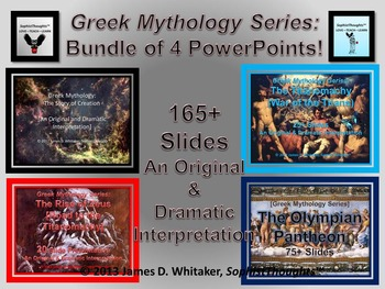 Greek Mythology PowerPoint Bundle Common Core Rigor