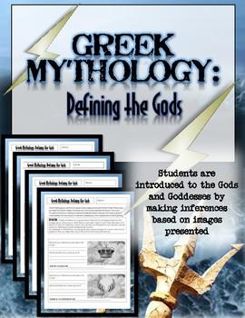Greek Mythology Activity: Defining the Gods