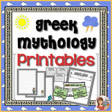 Greek Mythology Center Activities