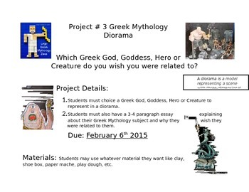 Greek Mythology Project -Diorama